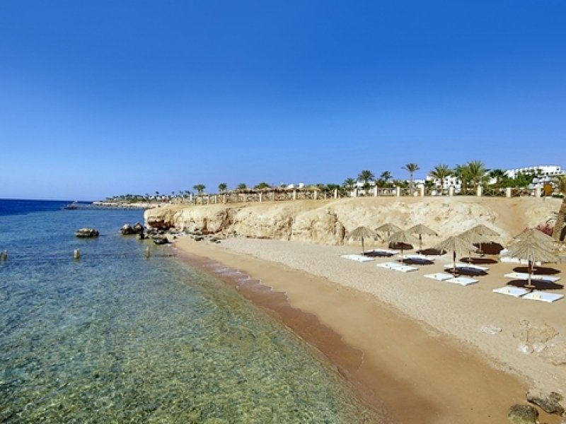 Praia do Hotel Hilton Waterfalls em Sharm El Sheikh