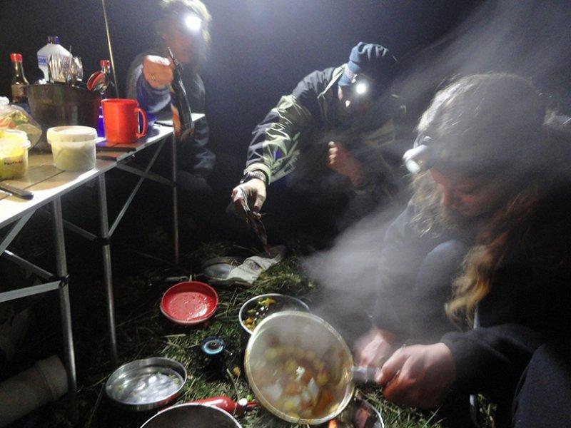 Cozinhando no acampamento