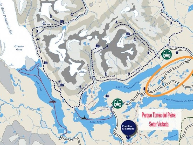 mapa Paine