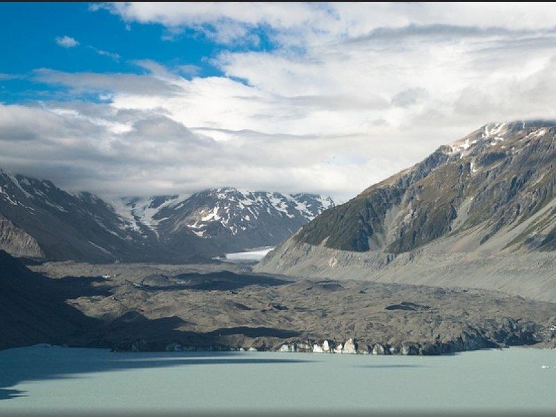 Tasman Glacier créditos Brook Peterson