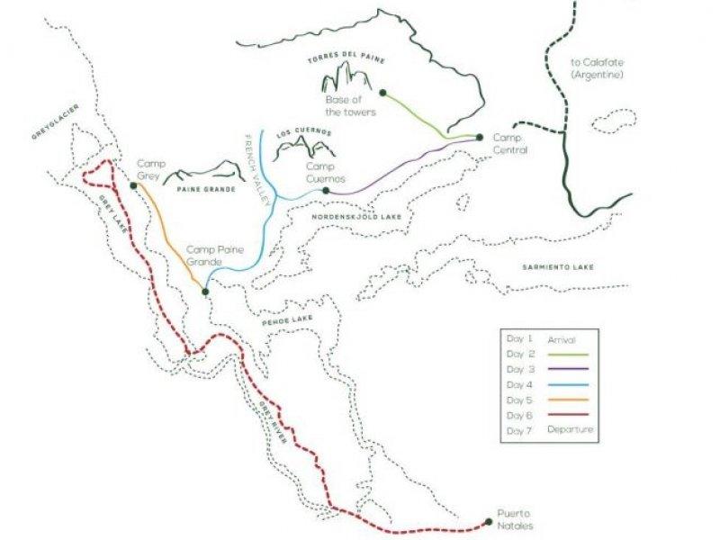 Mapa - Torres del Paine Inverno