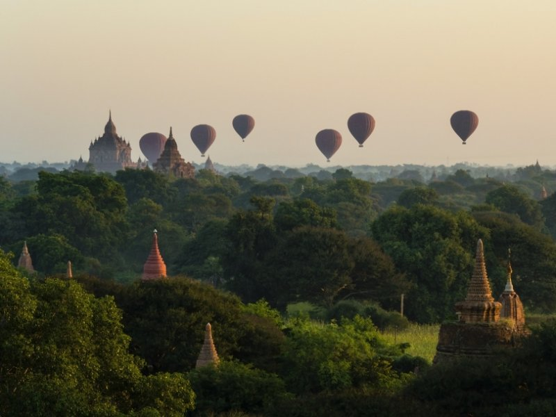 Myanmar - Sobrevoo de Balão