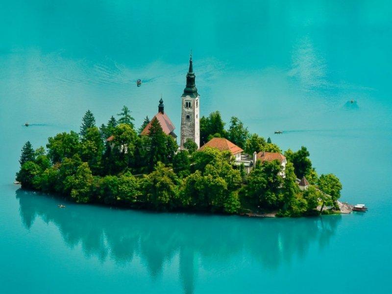 Lago Bled na Eslovênia - crédito: Slovenia Info