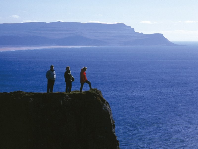 Fiordes da região oeste da Islândia