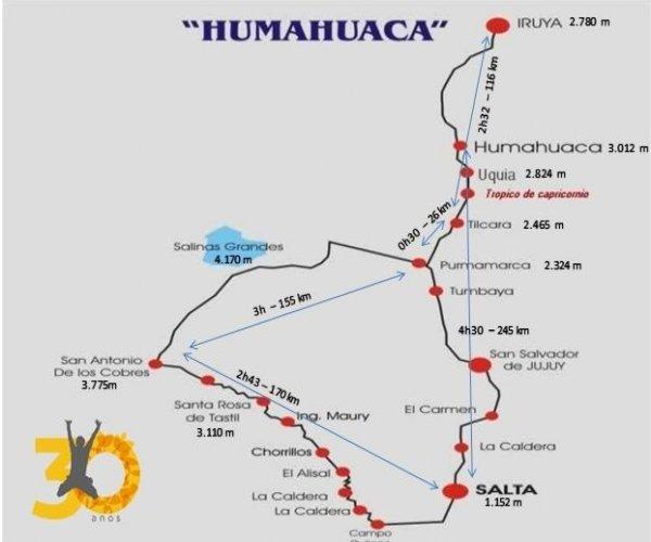 Mapa La Quebrada