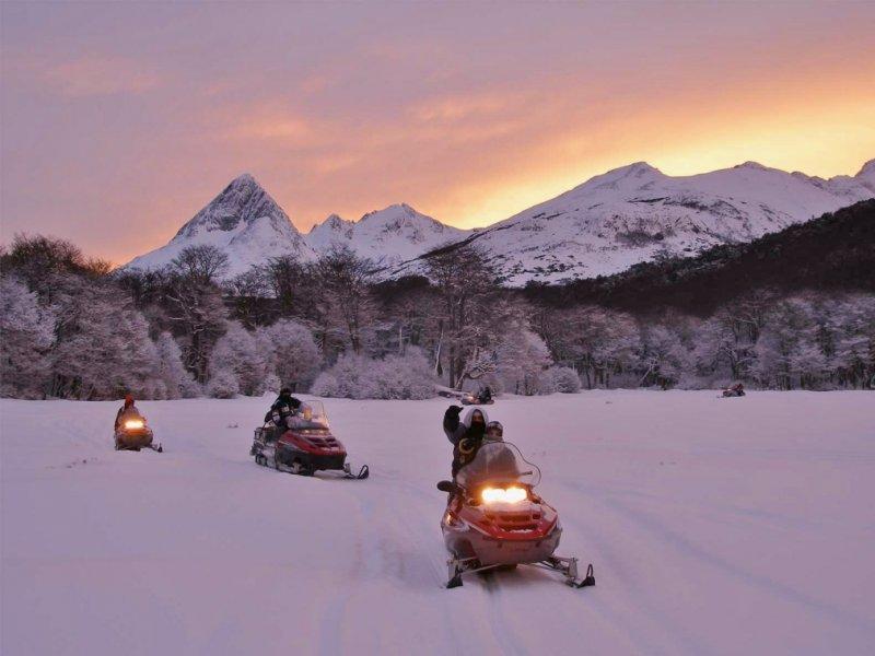 Moto de Neve em Ushuaia (Terra do Fogo)