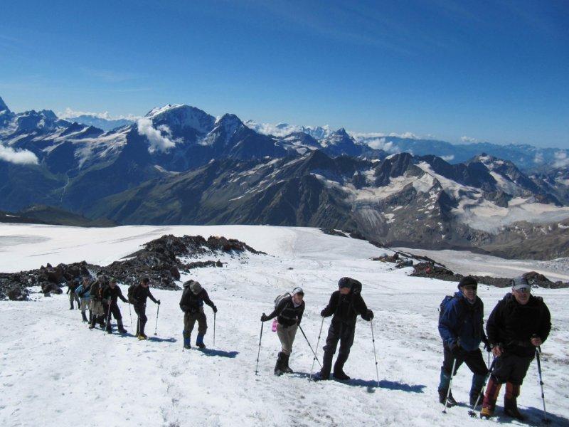 Caminhada de aclimatação Monte Elbrus