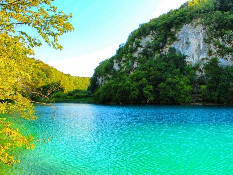 Lago no Parque Nacional Plitvice