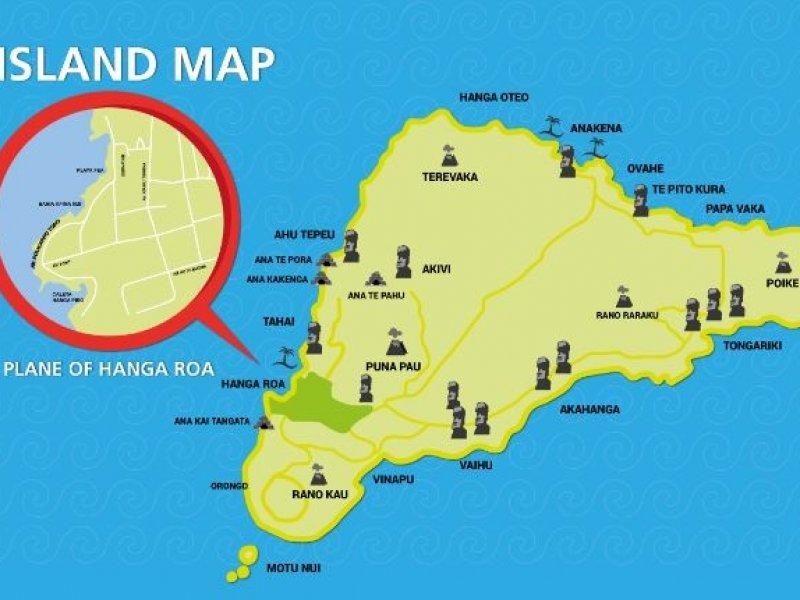 ilha de pascoa - mapa