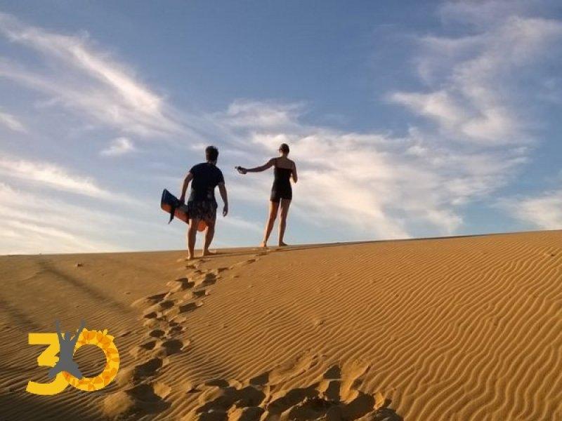 Sand Board nas dunas