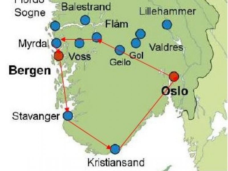fiordes noruega mapa Noruega   Fiordes, Ferrovia Flåm e Pedra Púlpito fiordes noruega mapa