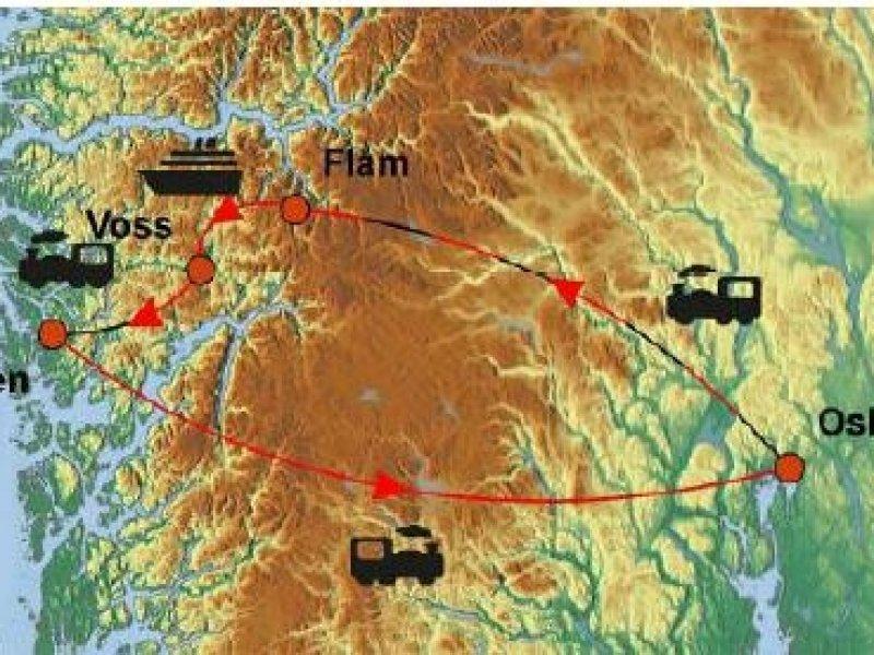 fiordes noruega mapa Noruega   Fiordes e Ferrovia Flåm fiordes noruega mapa