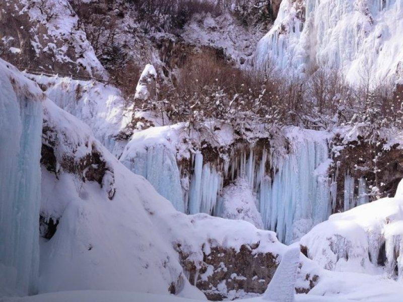 Parque Nacional Plitvice no Inverno