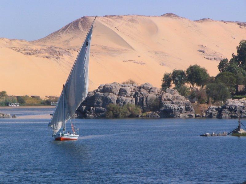 Faluca no Rio Nilo