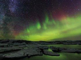 Islândia - Aurora Boreal na Costa Sul